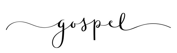 GOSPEL black vector brush calligraphy banner with swashes